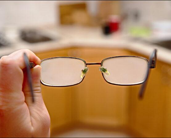 aangedampte brilglazen